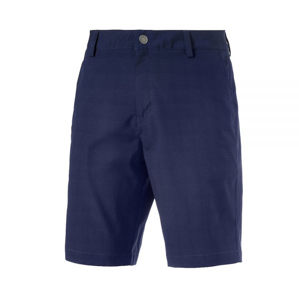 Puma Tailored Mesh Golf Short Herrenhose in blau.