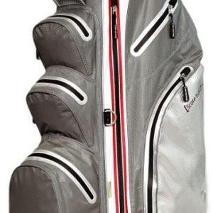 Cartbag Hardshell silber grau