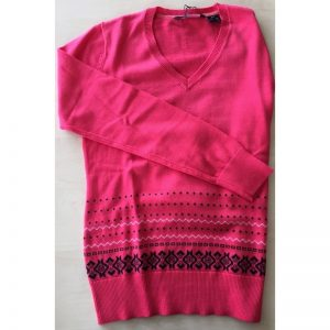 Abacus Ladies's Inverness knitted Pullover pink Damenpullover