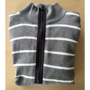 Abacus Ladies's Kendallwind stop half zip grau/weiß Windstopper/Pullover