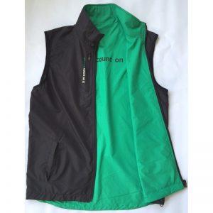 Abacus Men's Ace wind vest schwarz/grün Windbreaker/Wendeweste