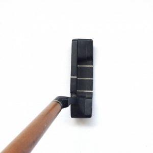Holz Putter mit Metall Kopf und Leder Griff
