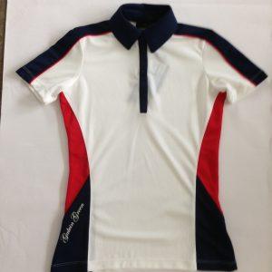 Galvin Green Damen Poloshirt - Weiß, Blau und Rot