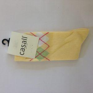 Casall Damen Strümpfe - Gelb mit muster