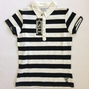 Casall Damen Poloshirt - Schwarz und weiß