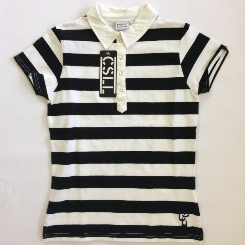 wholesale dealer d64ab de87b Casall Damen Poloshirt - schwarz und weiß