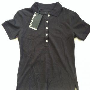 More & Ritz Damen Poloshirt - schwarz