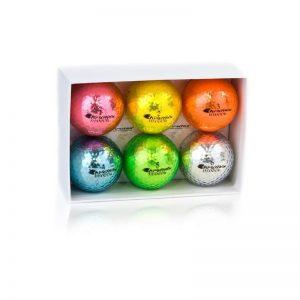 Chromax Metallic golfbälle 6'er mix Pack