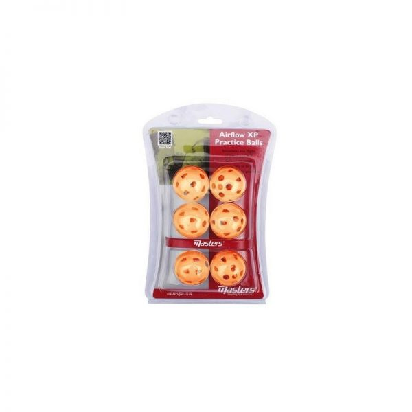 Masters Airflow XP Practice Balls Trainingsbälle aus Kunststoff Orange 6 Stück