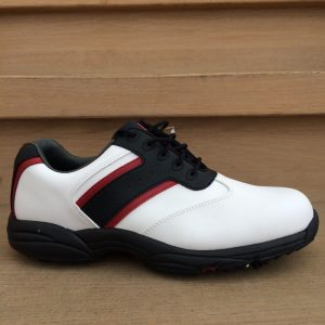 Footjoy Greenjoys weiß/schwarz/rot Herren Golfschuh Style 45414k