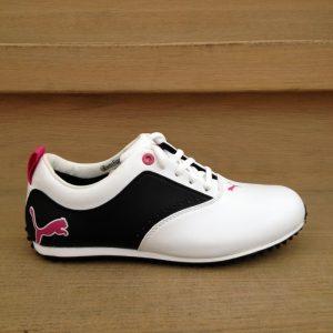 Puma PG Derby weiß/schwarz Damen Golfschuh