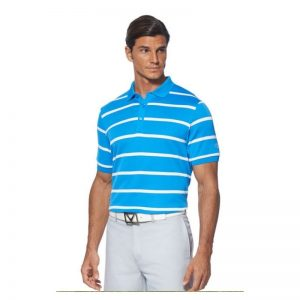 """Callaway Poloshirt """"Auto Stripe"""" blue aster Golfpolo"""