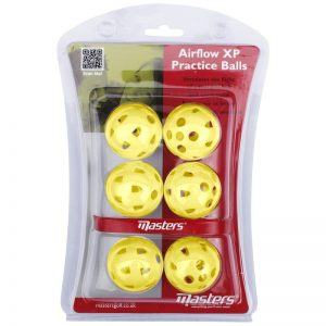 Masters Airflow XP Practice Balls Trainingsbälle aus Kunststoff gelb 6 Stück-673