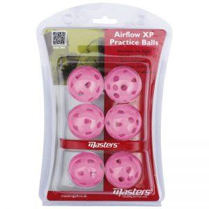 Masters Airflow XP Practice Balls Trainingsbälle aus Kunststoff pink 6 Stück