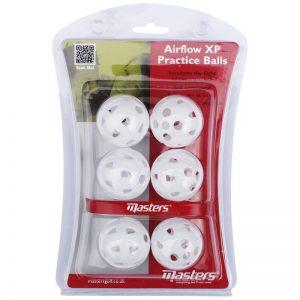 Masters Airflow XP Practice Balls Trainingsbälle aus Kunststoff weiß 6 Stück