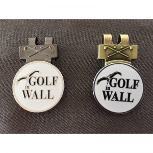 "Ballmarker ""Golf in Wall"" Hatclip"
