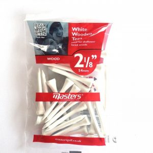 "White Wooden Tees 2 1/8"" 25stk"