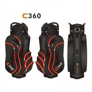 Fast Fold C360 schwarz/rot Cartbag-887