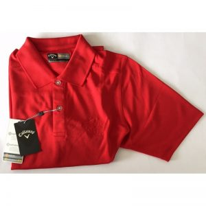 "Callaway Poloshirt ""Golf in Wall""-Logo salsa red Golfpolo"