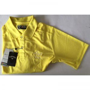 "Callaway Poloshirt ""Golf in Wall""-Logo aurora gelb Golfpolo"