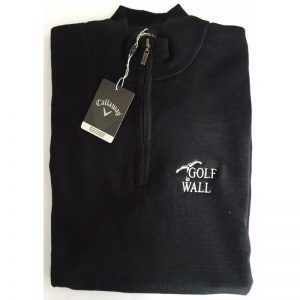 "Callaway Windstopper/Pullover ""Golf in Wall""-Logo schwarz Golfpullover"