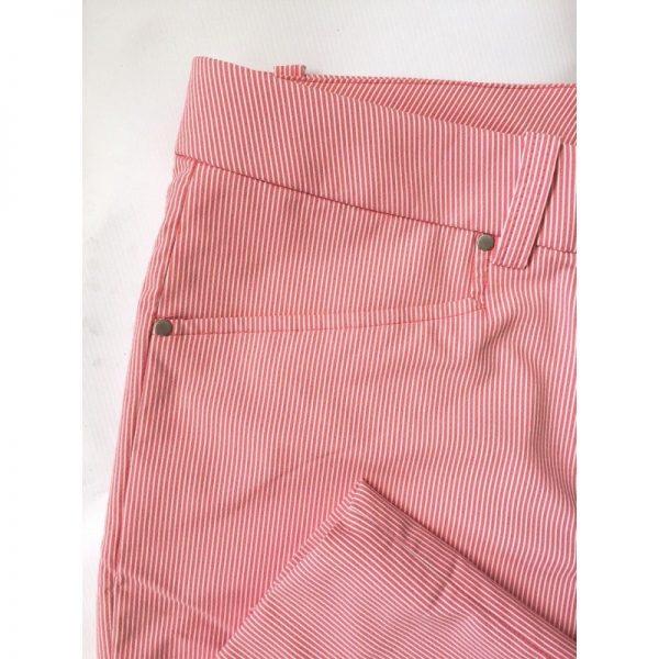 Abacus Ladies Cleek rot/weiß gestreift Damenhose-998
